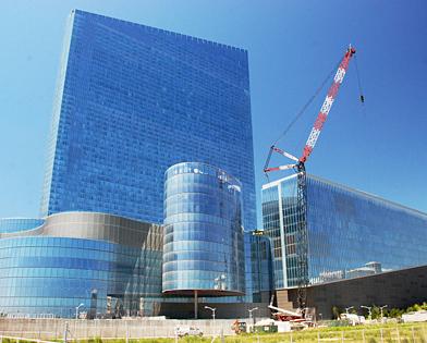 Revel Casino, Atlantic City, crane, scaffold, scaffolding, Superior Scaffold, 215 743-2200