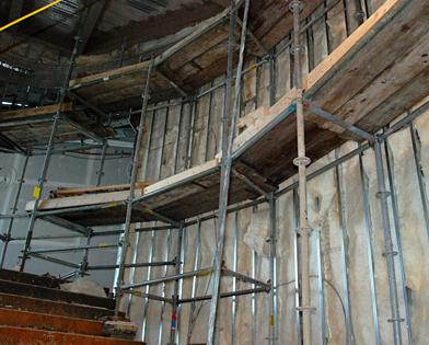 Revel Casino, Atlantic City, Staircase, scaffold, scaffolding, Superior Scaffold, 215 743-2200