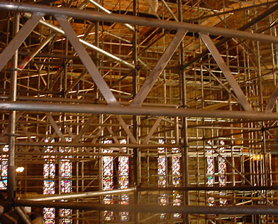 Rodeph Shalom Sanctuary, PA, Superior Scaffold, (215) 743-2200, scaffolding, system, rental
