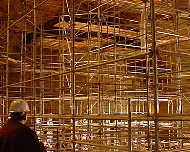 Rodeph Shalom Sanctuary, Superior Scaffold, (215) 743-2200, scaffolding, system, rent