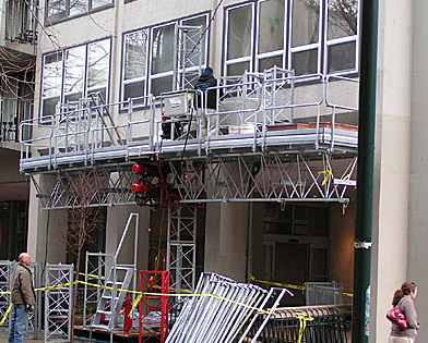 The Dorchester, mast climber, Superior Scaffold, 215 743-2200, scaffolding, rental