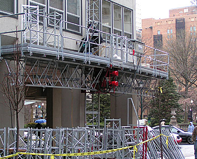 The Dorchester, mast climber, Superior Scaffold, 215 743-2200, scaffolding, rentals