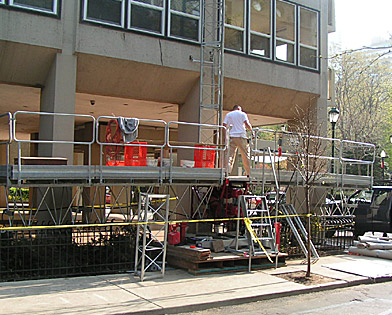 The Dorchester, mast climber, Superior Scaffold, 215 743-2200, scaffolding, rent