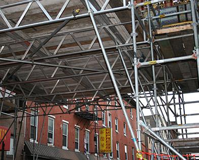 The Friendship Gate, Arch, scaffolding, scaffold, rental