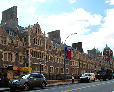 University of Pennsylvania, finished, quadrangle, scaffolding, Superior Scaffold, 215 743-2200