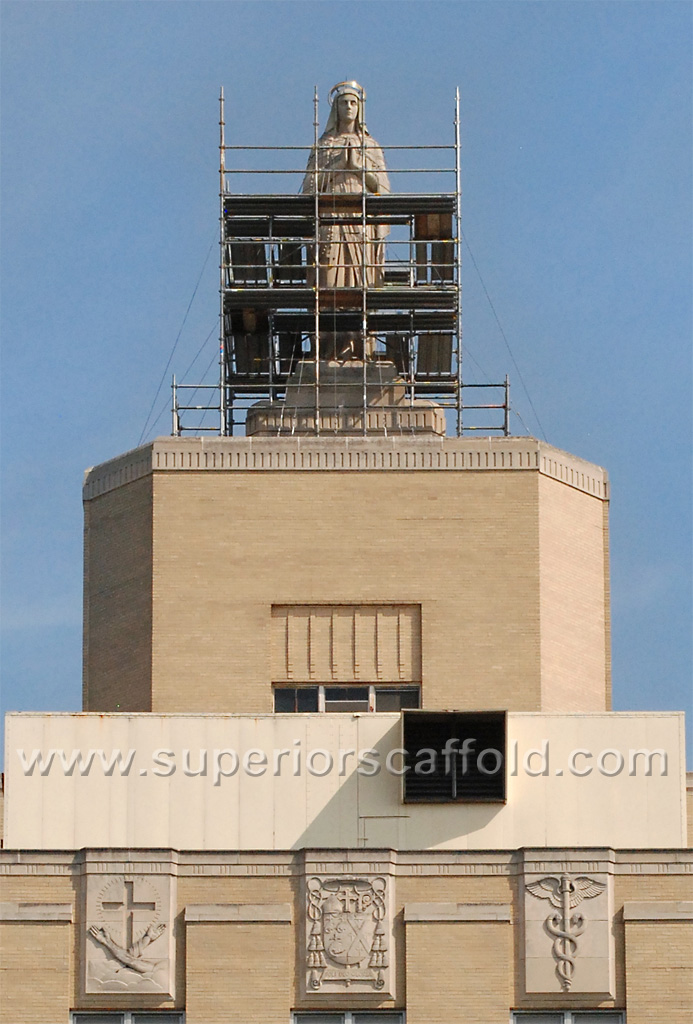 Top of Our Lady of Lourdes Medical Building