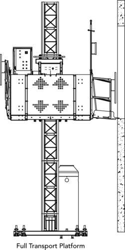transport platform, man, material, hoist, lift, elevator, buckhoist, superior scaffold, scaffolding, scaffold, pa, nj, md, de, new jersey, access, construction, rent, rental, rents, philly, suspended, swing stage