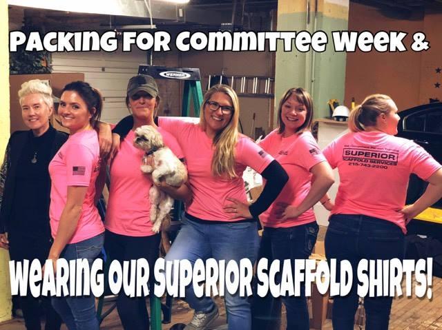 superior scaffold, scaffolding, scaffold, tshirts, swag, saia, committee week, philadelphia, tx, pa, nj