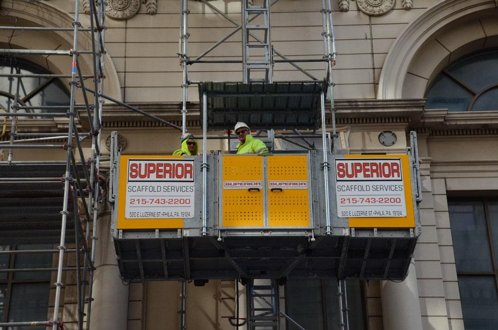 Scaffold, scaffolding, rental, rent, rents, scaffolding rentals, construction, ladders, frames, frame scaffold, equipment rental, swings, swing staging, stages, suspended, shoring, mast climber, work platforms, scaffolding Philadelphia, scaffold PA, phila, overhead protection, canopy, sidewalk, shed, building materials, NJ, DE, MD, NY, scafolding, scaffling, renting, leasing, inspection, general contractor, masonry, 215 743-2200, superior scaffold, electrical, HVAC, gc, USA, national, mast climber, safety, buckhoist, elevator, transport, platform