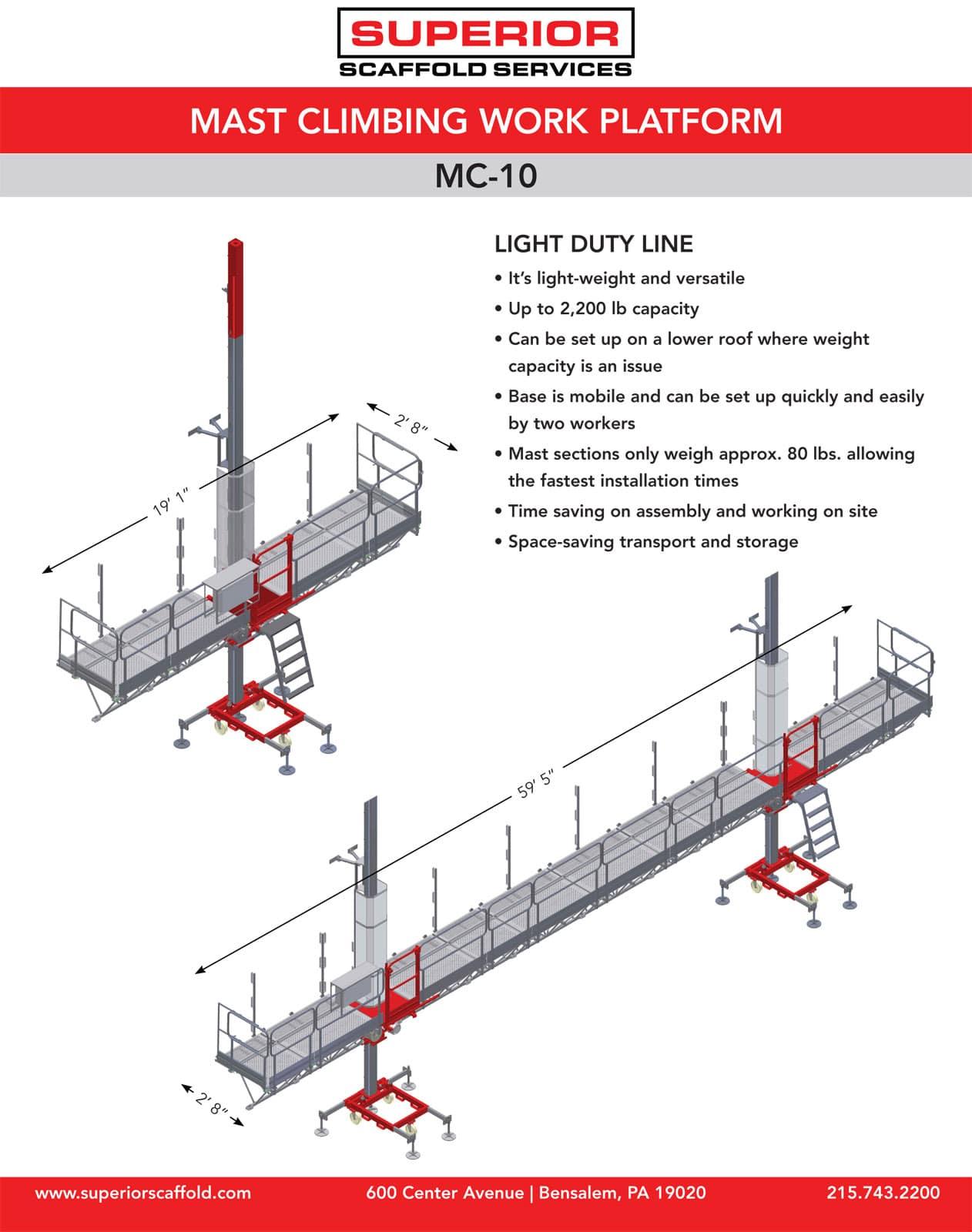 rent mast climber, mc-10