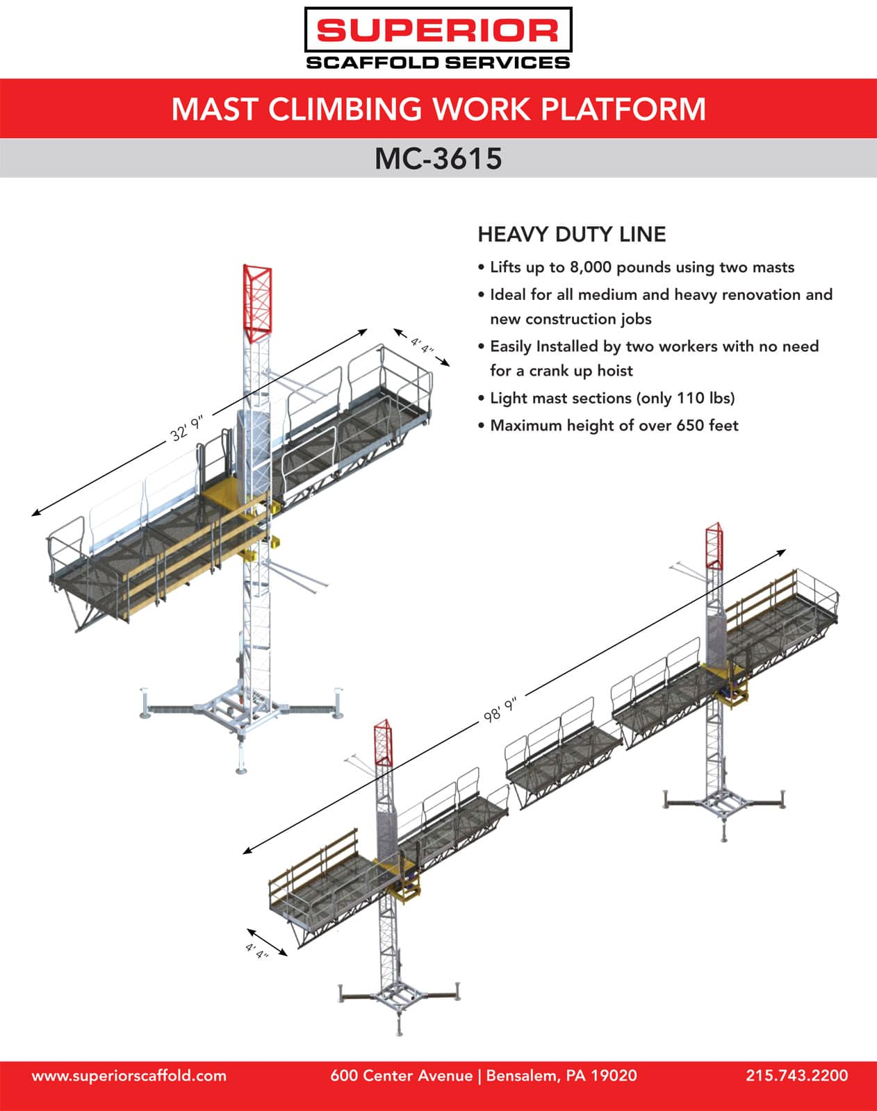 Rent Mast climber, Mc-3615