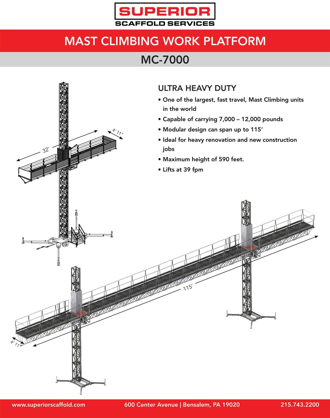 Rent Mast climber, Mc-7000