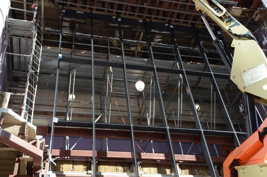 Scaffolding, scaffold, cantilever scaffold, iron workers, carpenters, façade, system scaffold, Philadelphia, pa, nj, de