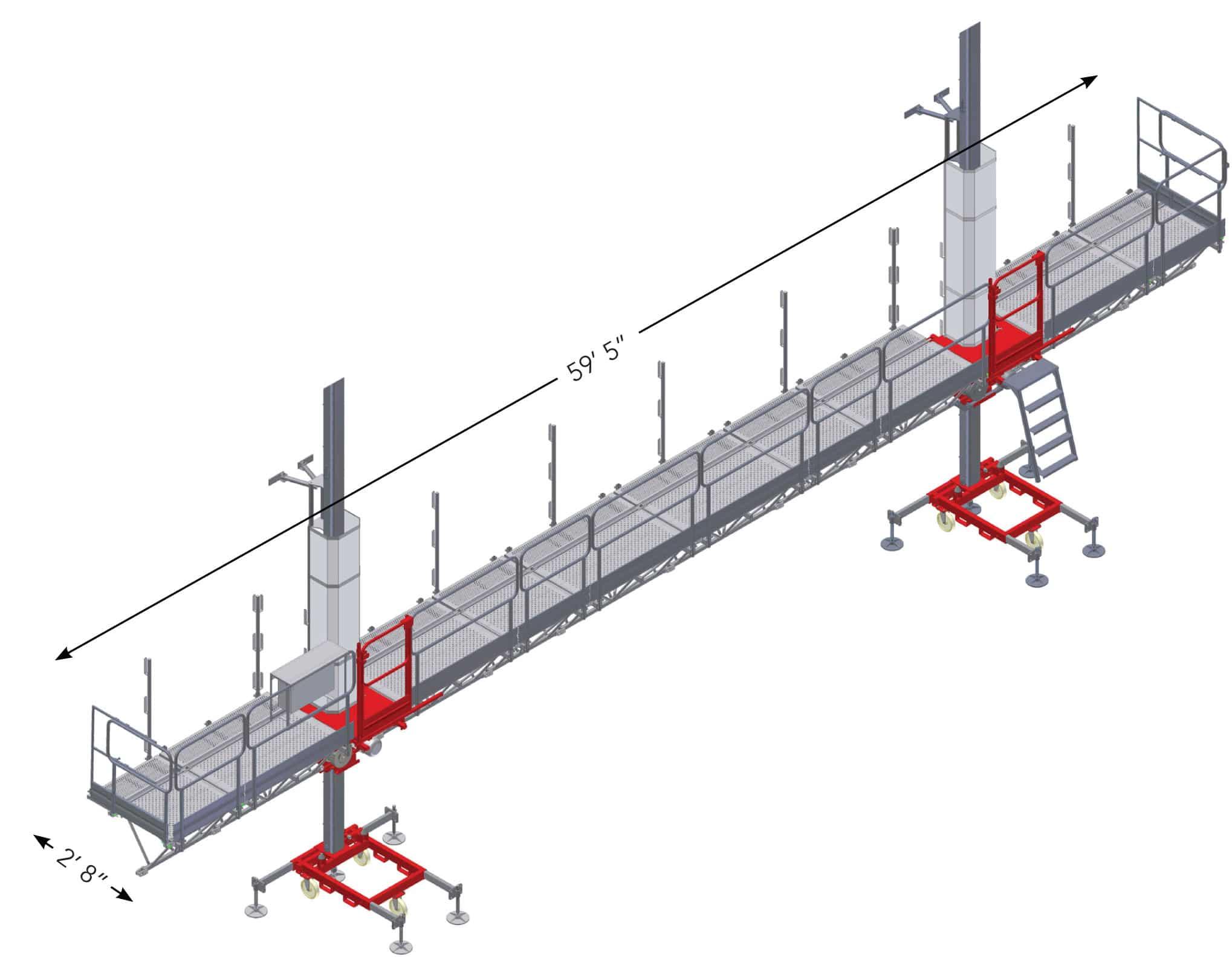 rent mast climber, single mast