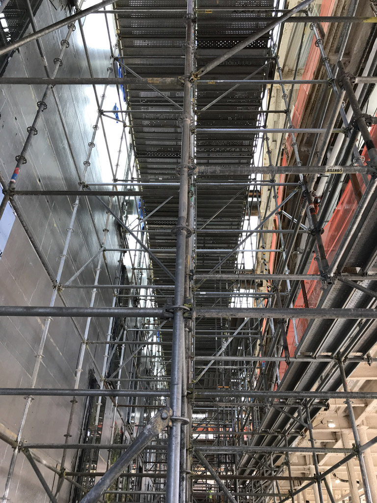 swarthmore college, scaffold, scaffolding, superior scaffold, rent, stair tower