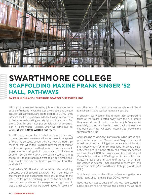 superior scaffold, scaffolding, scaffold, covid, gbca, construction magazine