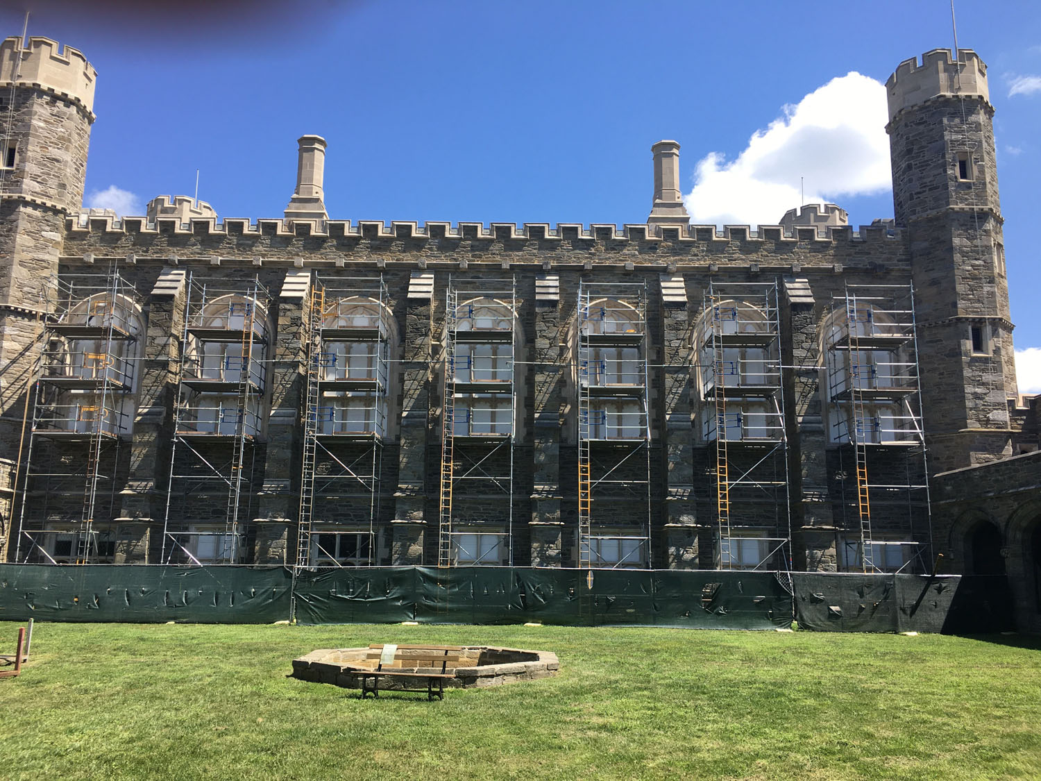 superior scaffold, system scaffold, scaffolding, access, windows, masonry, philadelphia, pa, nj, de, bryn Mawr college