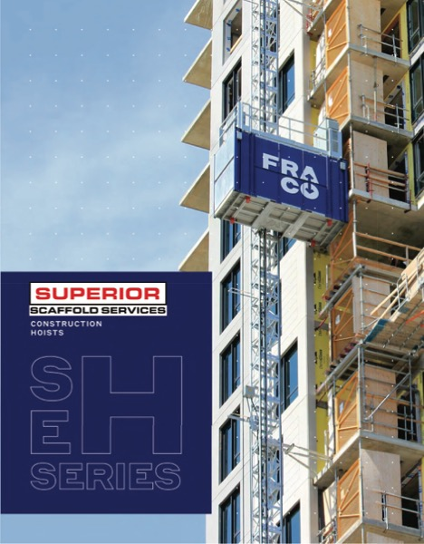 superior scaffold, fraco, construction elevator, hoist, transport platform, philadelphia, pa, new jersey, nj, DE