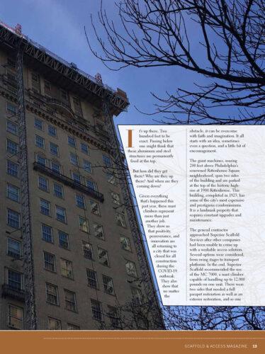 Scaffold and Access Magazine, superior scaffold, scaffolding, scaffold, philadelphia, pa, new jersey, de, mast climber