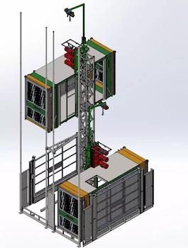 buck hoist, construction elevator, hoist, lift, man material, pa, philadelphia, new jersey. delaware